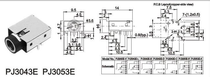 双音频插座输入电路图